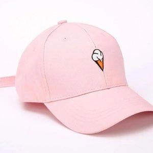Pink Ice Cream Cone Baseball Hat